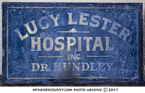 Lucy Lester Hospital Sign